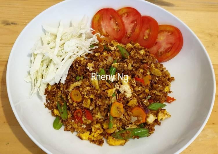 Nasi goreng tanpa nasi (Oatmeal) / Nasgor Sehat