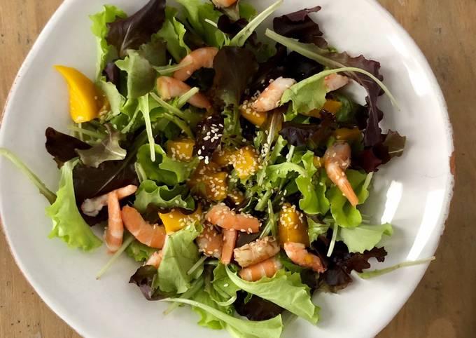 Salade de crevettes et mangues