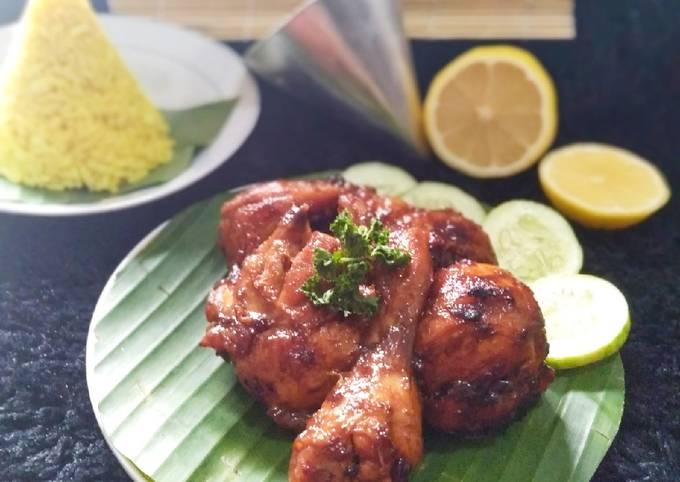 Ayam kecap bakar untuk nasi tumpeng🍗