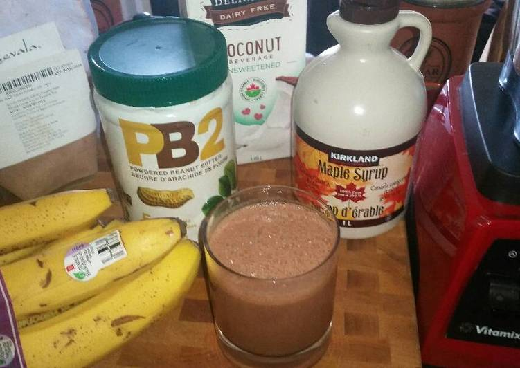 Healthy Chocolate Monkey Smoothie