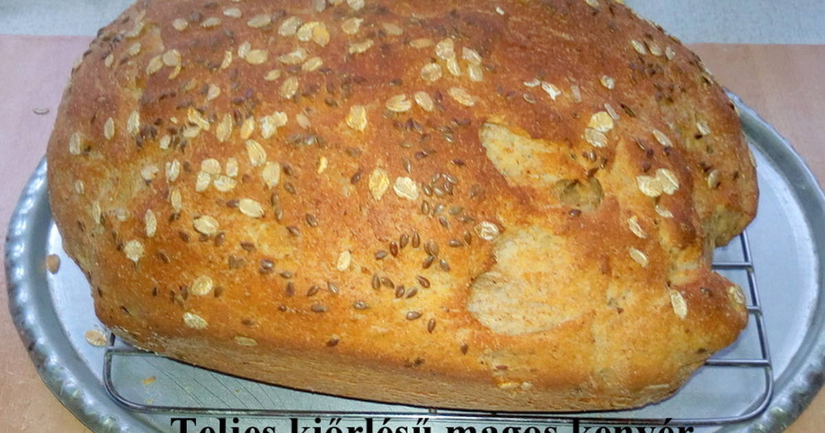 Teljes kiőrlésű kenyér recept - 203 recept - Cookpad receptek