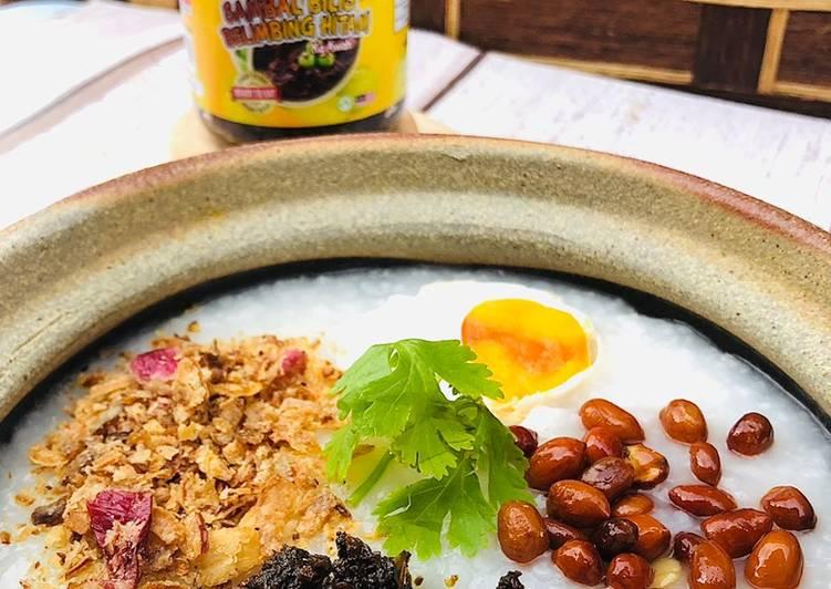 Resepi Bubur Nasi Claypot Sambal Hitam Kampung Awah - resepipouler.com