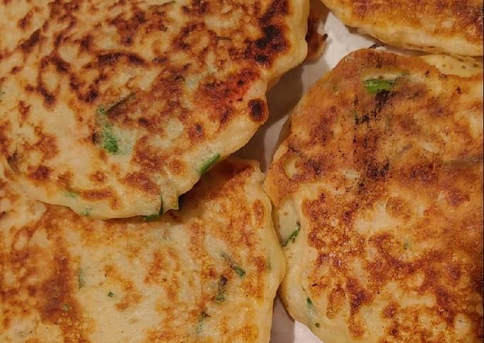 Sourdough starter & rice Asian style pancakes (in development)