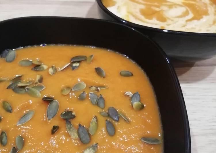 Soupe de potimarron / panais / radis meat / rutabaga, tous BIO