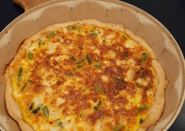 Asparagi and Goat cheese quiche