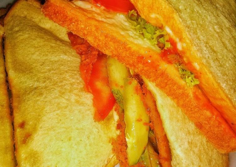 #15 Sandwich Tumpuk Abon & Ham