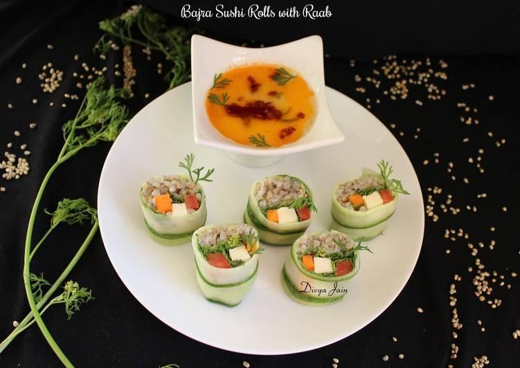 Bajra Sushi Rolls With Raab