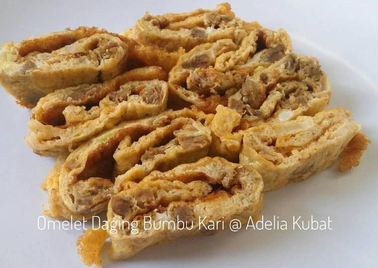 Omelet Daging Bumbu Kari