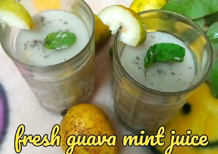 Fresh guava mint juice