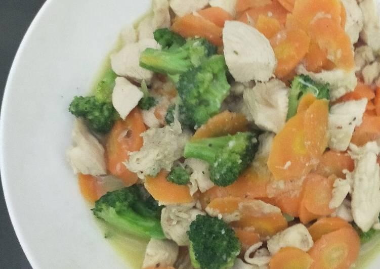 Tumis ayam wortel brokoli
