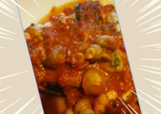 Gratin d'aubergines et de courgettes bacon mozzarella