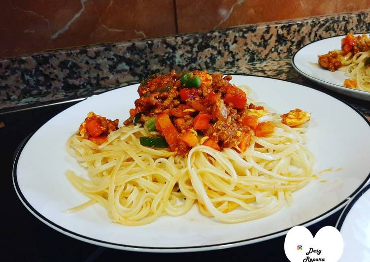 Espaguetis a la Bolognesa
