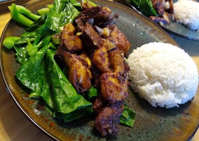 Vegetarian Shacha Beef & Broccoli Stir fry