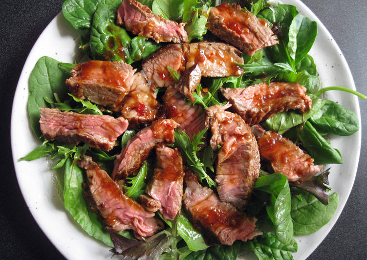 Steak Salad with Ponzu Based Dressing - Laurie G Edwards