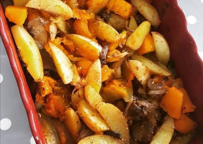 Poêlée de légumes d'hiver rôtie au four
