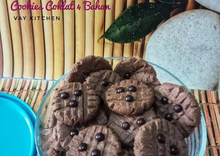 Cookies Coklat 4 Bahan