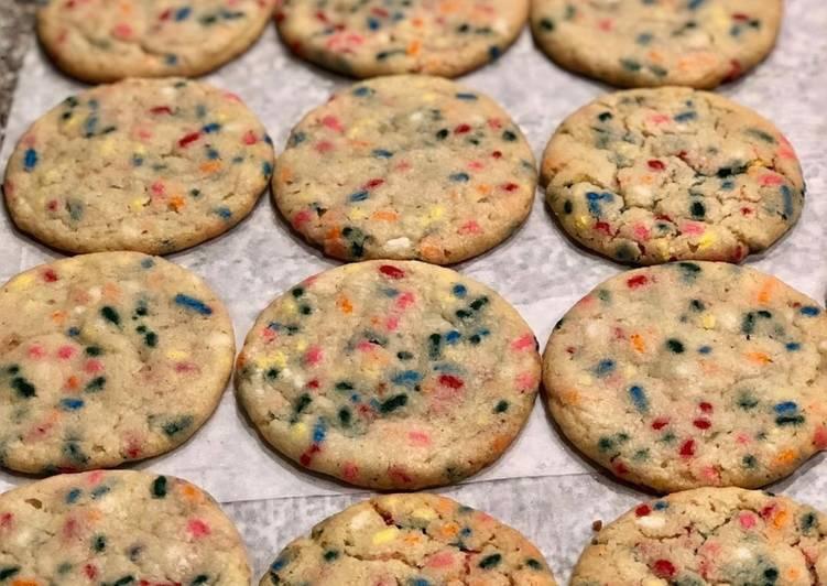 Steps to Prepare Speedy Birthday Cake Cookies 🎉🎈