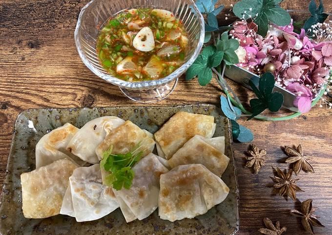 Small Gyoza Dumpling with Yui's Nam Pla Plick