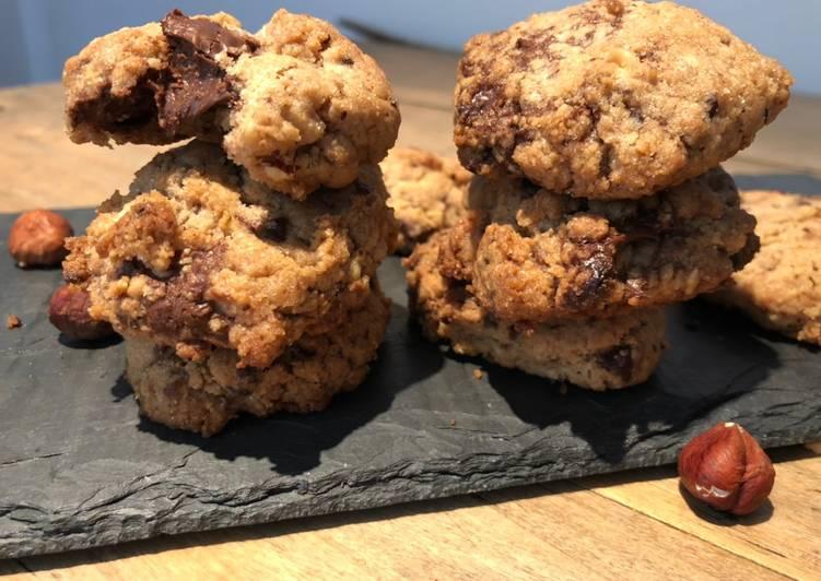 Comment Cuisiner Cookies cœur au nutella
