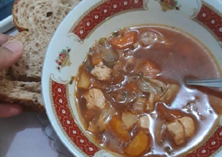 Steps to Make Homemade Borscht (Борщ) Ukrainian Soup