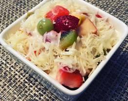 Salad Buah Hasil Kolaborasi Anak 7 tahun dan 10 tahun#SaladAction