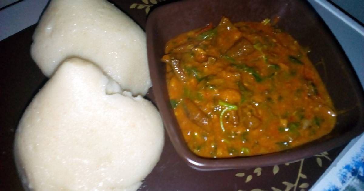 Tuwan semo with ogbono soup Recipe by Zeesag Kitchen - Cookpad