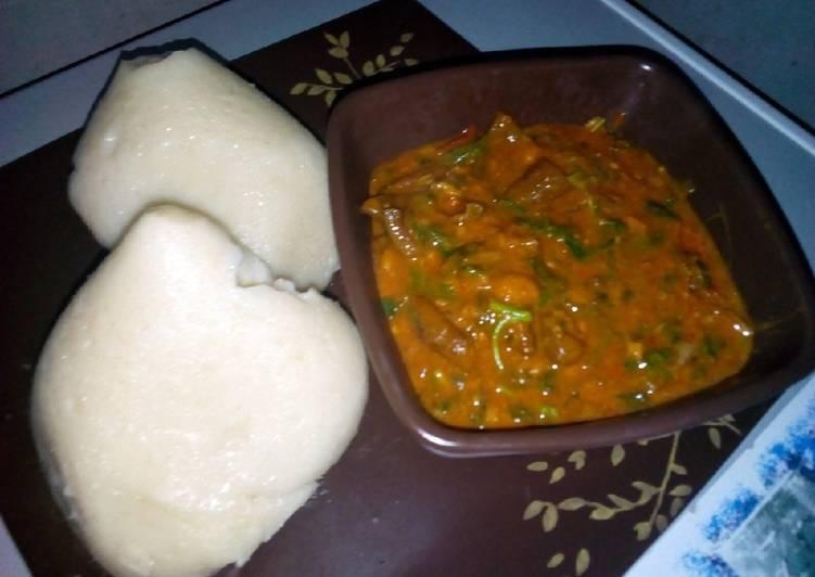 25 Minute Steps to Prepare Winter Tuwan semo with ogbono soup