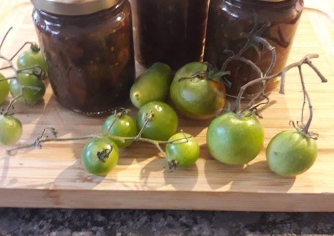 Chutney tomates vertes et raisins secs