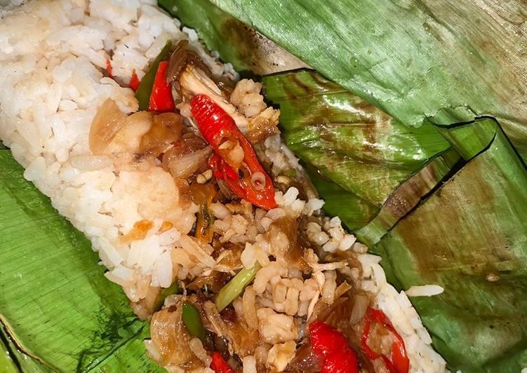 Nasi Bakar Ayam Lada Hitam