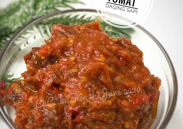 Sambal Tomat daging Sapi