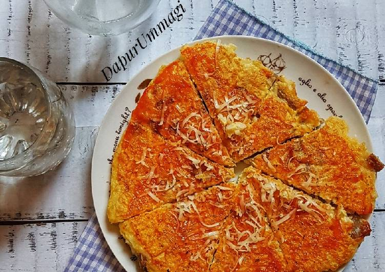 Omelet Pizza Nasi