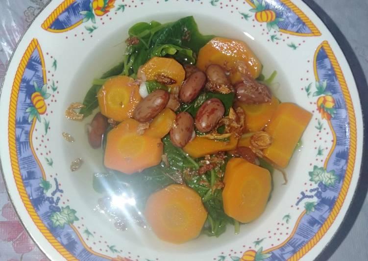 Sayur Bayam Kacang Merah