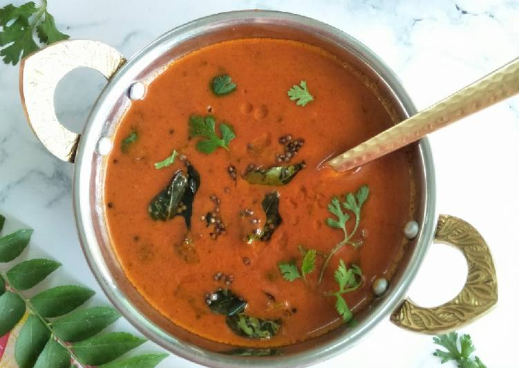 Recipe of Perfect Tomato Saar (Sweet And Sour Tomato Curry)