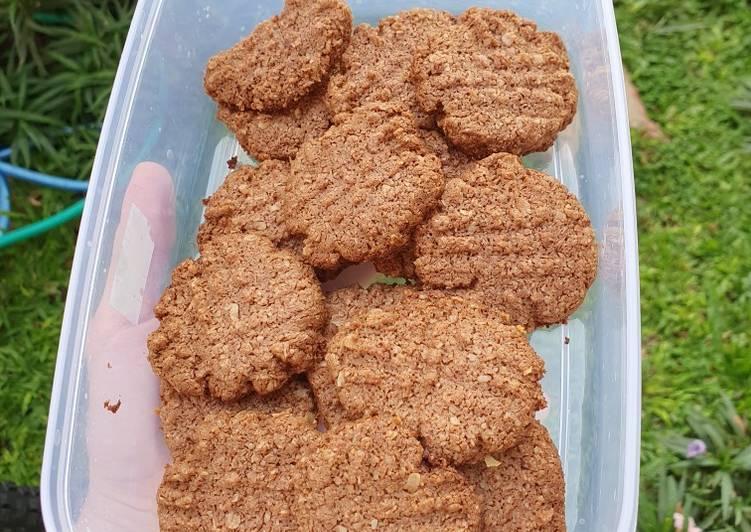 Oat Nutella Cookies