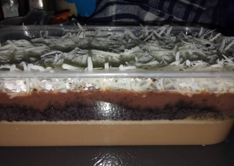 Desert box puding, layer Oreo, Fla dan chest