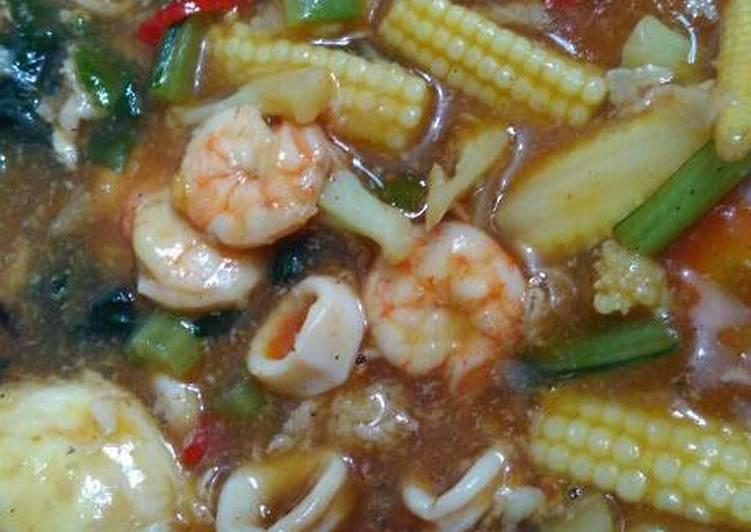 Capcay seafood pedaaas