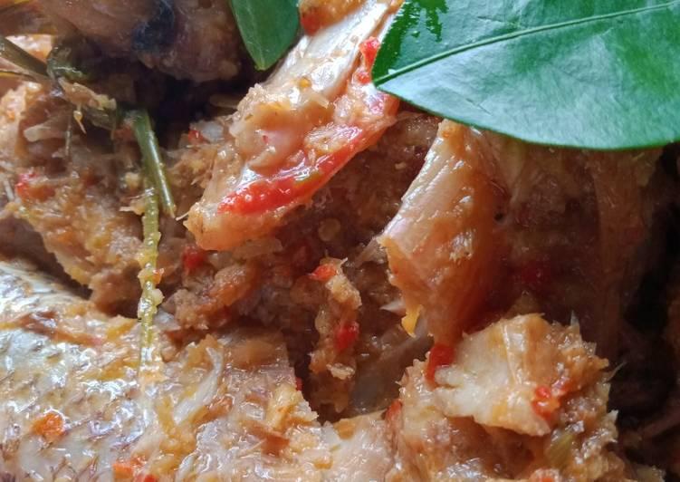 Ikan kakap masak dangkot sederhana