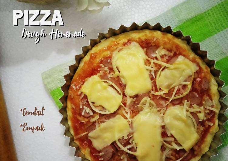 Resep Pizza dough homemade lembut & empuk Anti Gagal