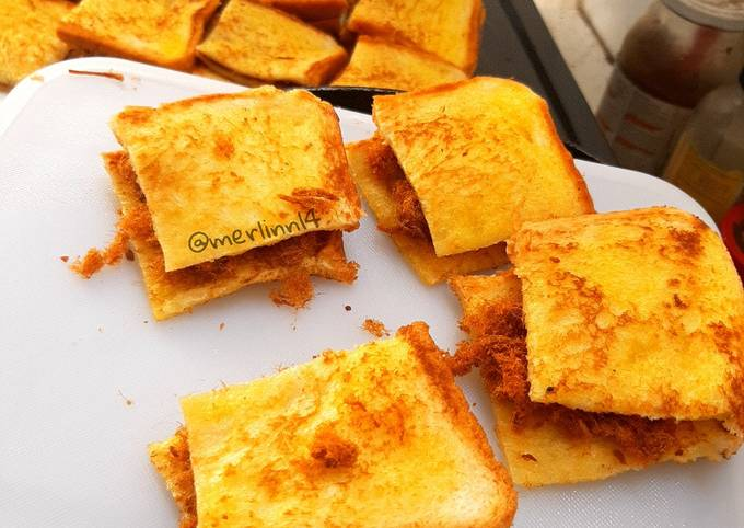 Roti Panggang Abon