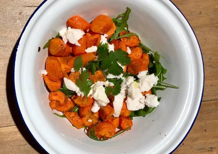 Salade aux carottes confites