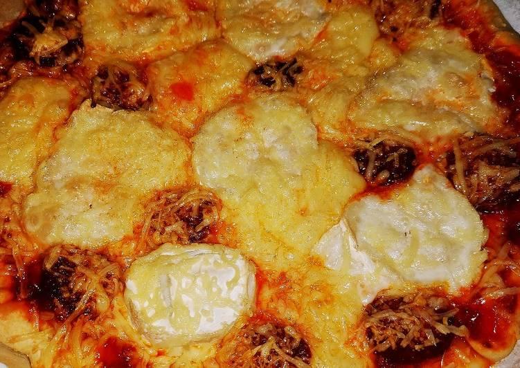 Pizza chèvre chorizo