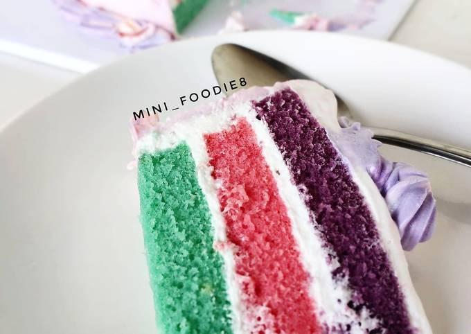 Bolu kukus untuk basecake kue ulang tahun
