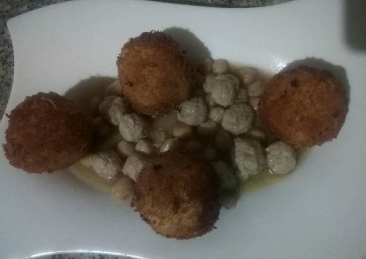 Recette Savoureux Tajine des boules de pomme de terre et poulet