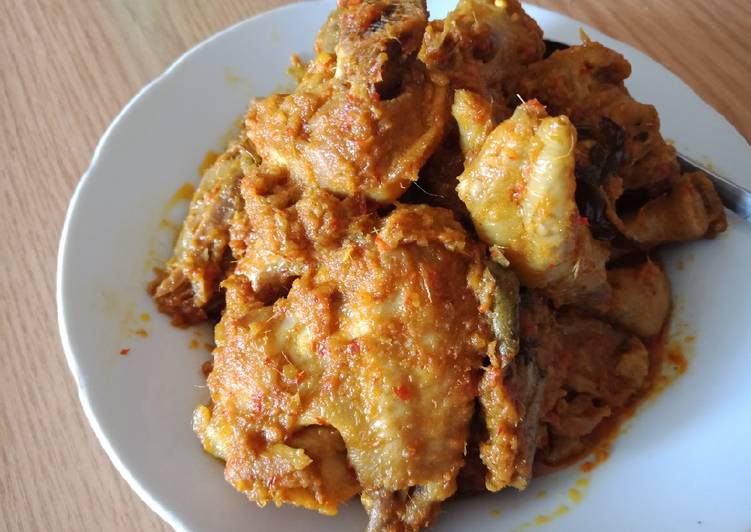 resep cara buat Rendang ayam simple