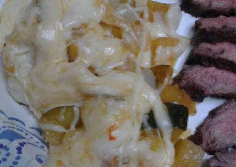 Acorn squash and onion casserole