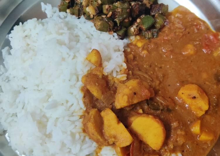 Steps to Prepare Homemade Cheppa kizhangu puli kulambhu