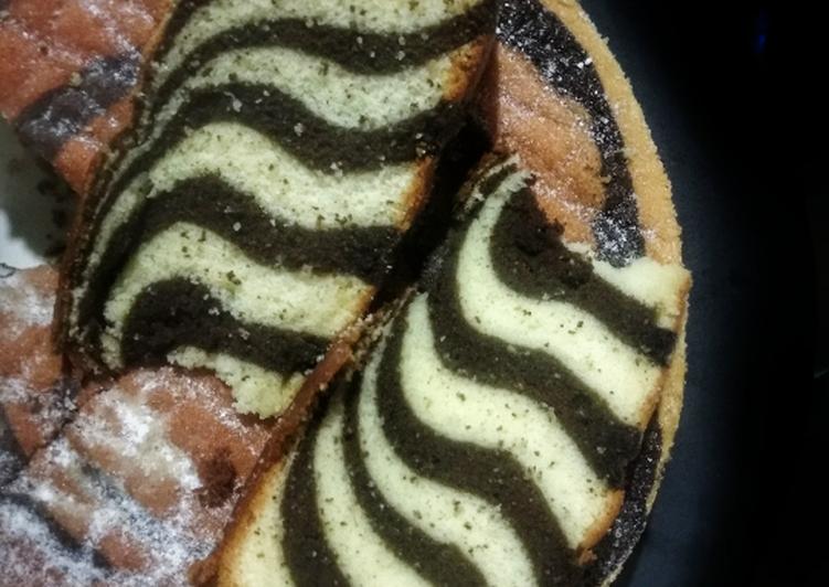7 Langkah Resep Zebra Cake Putih Telur Yang Sederhana