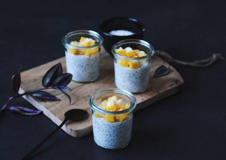 Les Meilleures Recettes de Perles du Japon au lait de coco et à la mangue