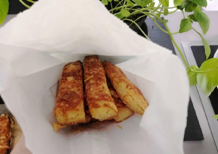 Gluténmentes, leveles tésztás sajtos és szezámos rúd recept foto