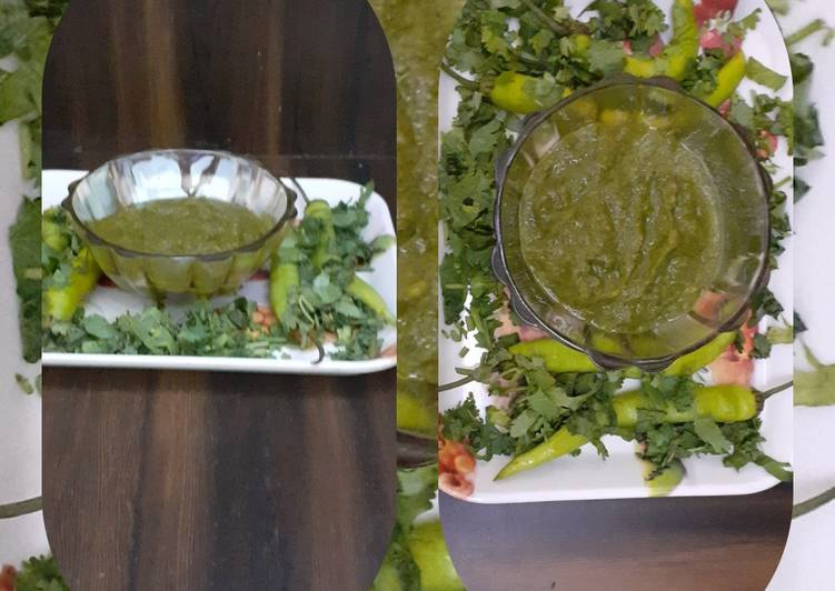 Easiest Way to Prepare Super Quick Homemade Green coriander and mint chutney